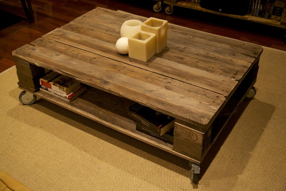 palets barcelona mesa interior - Mesa Con Palets