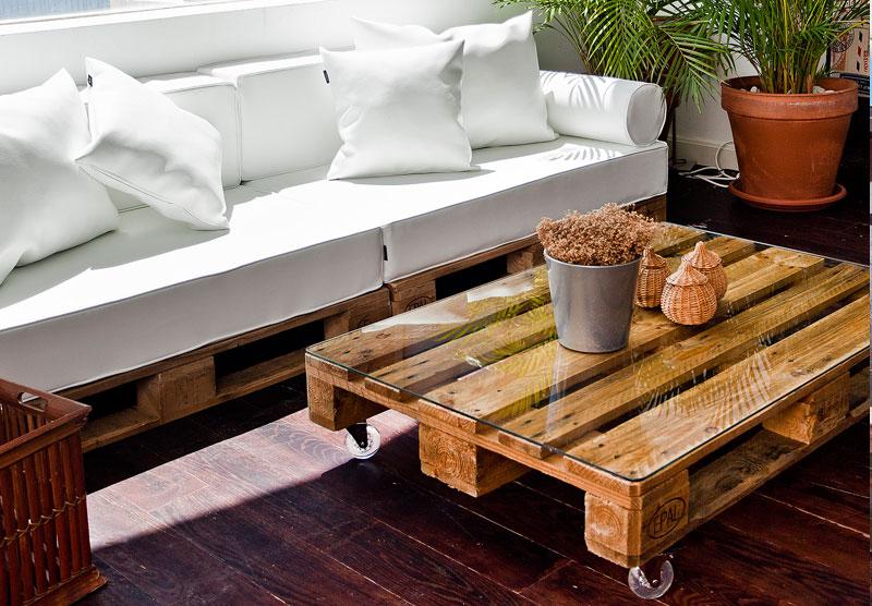 Como hacer tus propios muebles con palets en Barcelona