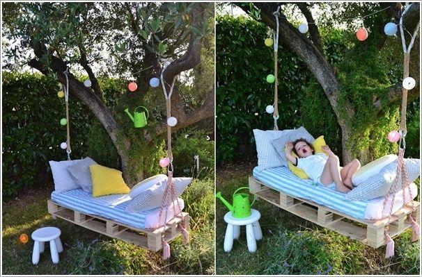 Disfruta de columpio en tu jardín